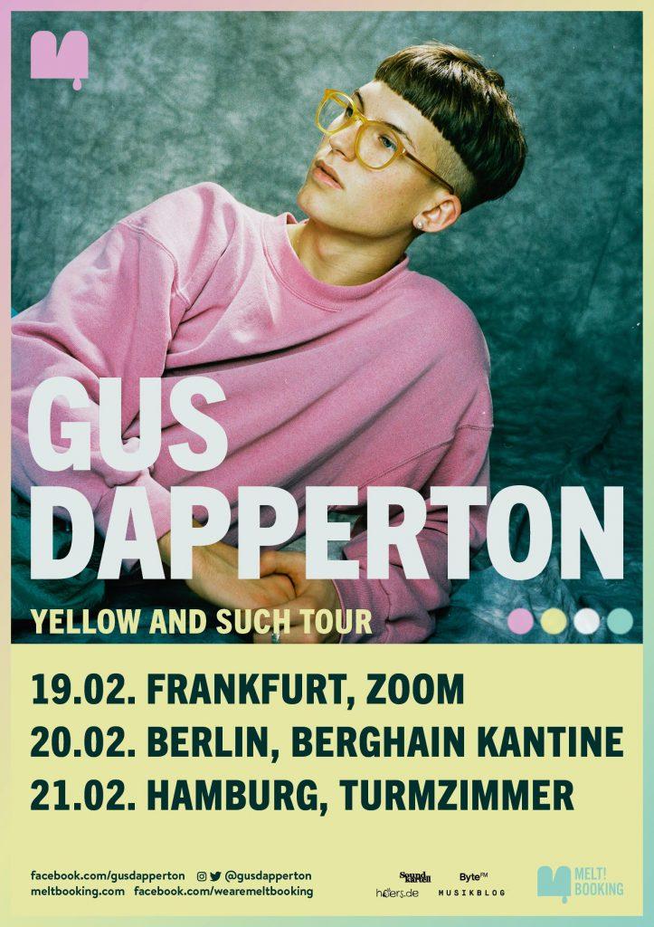 Gus Dapperton Tourplakat // Präsentiert von hoers.de
